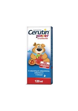 Cerutin Junior syrop 3 lat truskawkowy smakow 120ml