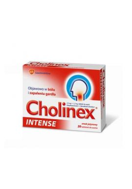 Cholinex Intense, smak jezynowy, 20 tabletek