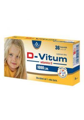 D-Vitum 1000 dla dzieci od 1 roku zycia 36 kaps twist off