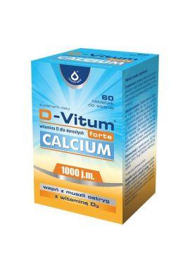 D-Vitum Forte Calcium 1000 j.m. dla doroslych 60