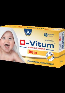 D-Vitum, witamina D dla niemowlat 400 j.m., 48 kapsulek