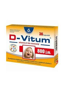 D-Vitum witamina D 800j.m. 36 kapsulek