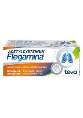 flegamina acetylcysteinum 10 tabletek musujacych