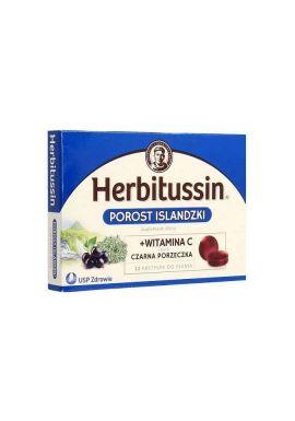 Herbitussin czarna porzeczka 12 pastylek do ssania