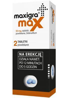 Maxigra Go, 2 tabletki do rozgryzania i żucia