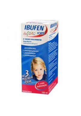 Ibufen dla dzieci Forte 200mg/5ml 100ml malinowe