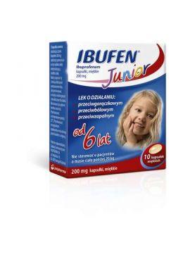 Ibufen junior od 6 lat 10 kapsulek