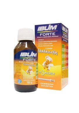 Ibum Forte  od 3 miesiaca smak bananowy 200mg/5ml 100g