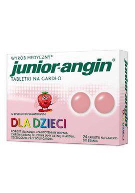 Junior-angin dla dzieci od 4 lat smak trusk 24 tabletki