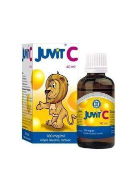 Juvit C 100mg/ml krople dla dzieci od 28 dnia zycia 40ml