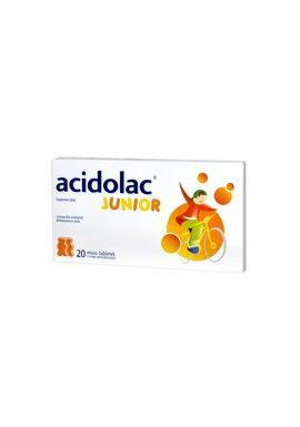 Acidolac Junior 3 lat smak pomaranczowy, 20 tabletek