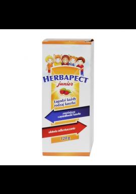 Herbapect Junior syrop na kaszel dla dzieci malinowy